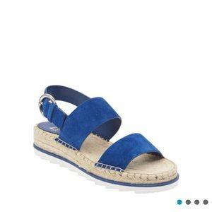 Marc Fisher Phebe 2 Espadrille Sandal Blue